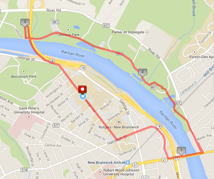 Running Routes - Rutgers Running Club